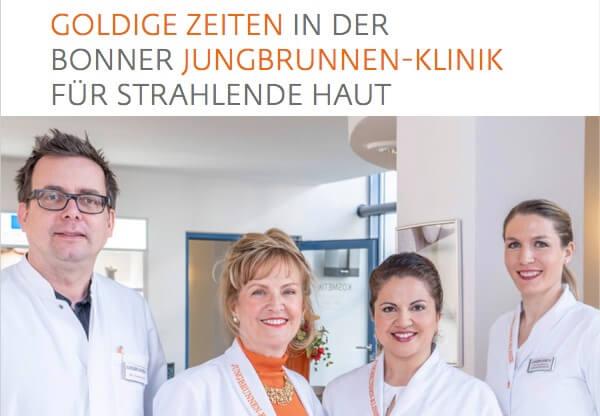 Goldige Zeiten in der Bonner Jungbrunnen-Klinik für strahlende Haut